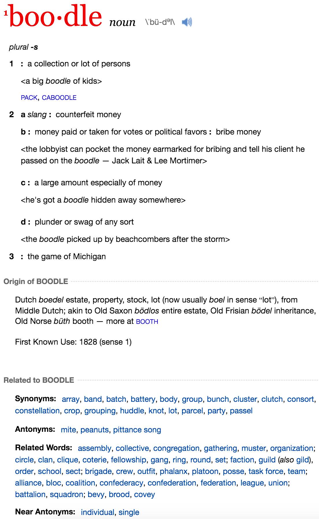Boodle Boy: Definition