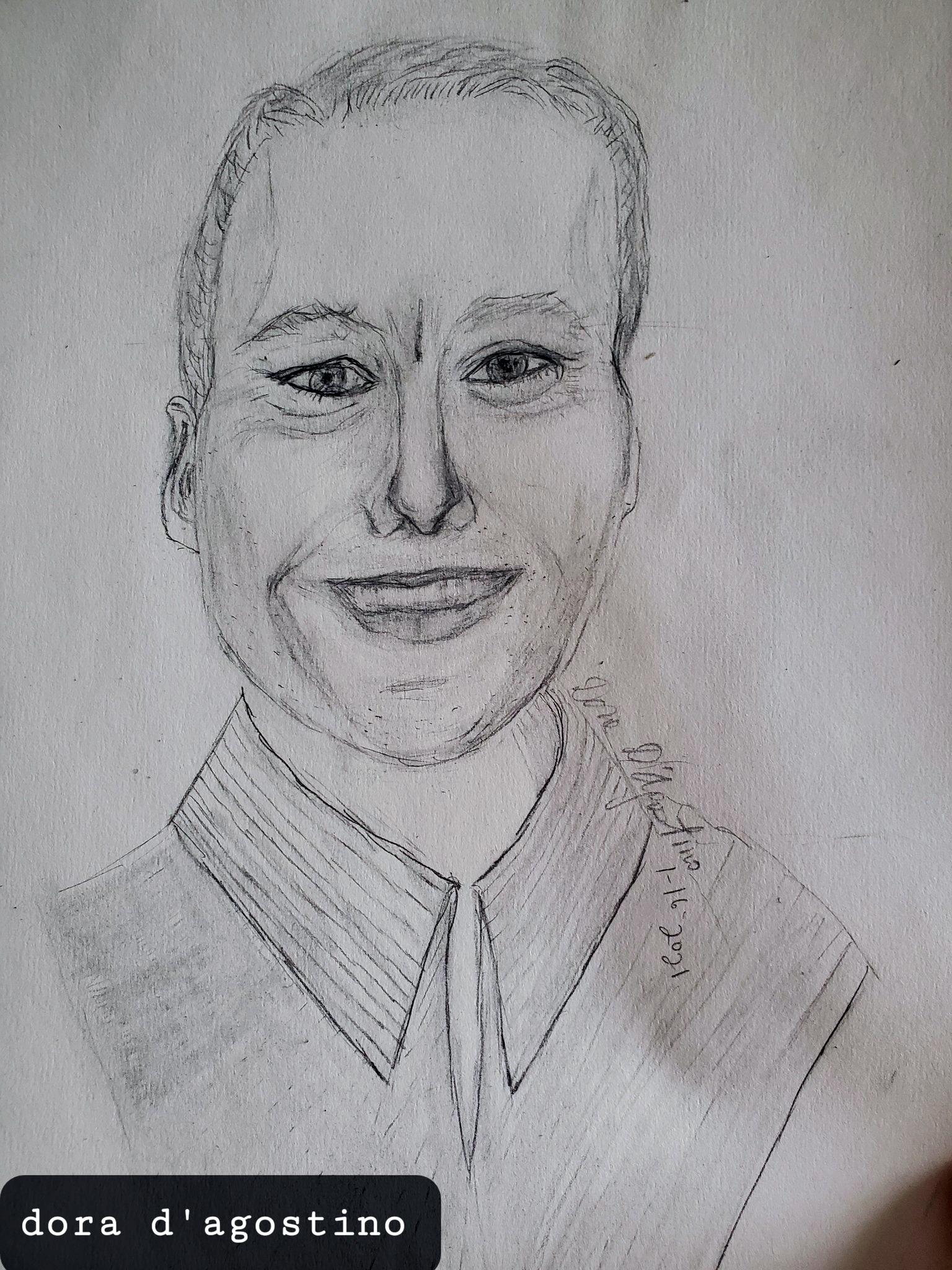 David Boles, as drawn by Dora D'Agostino on 01-05-21