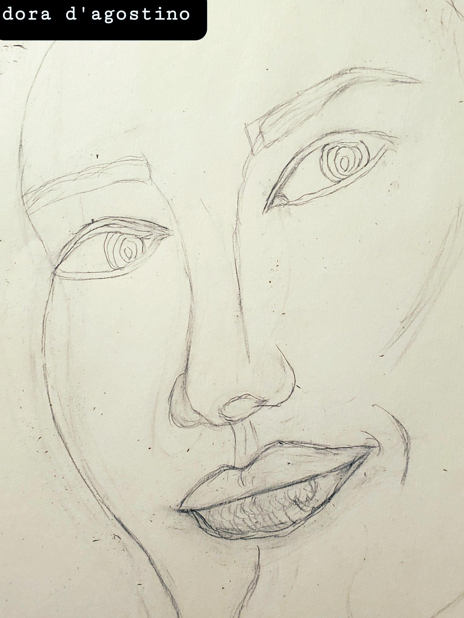 David Boles, as drawn by Dora D'Agostino on 01-29-21