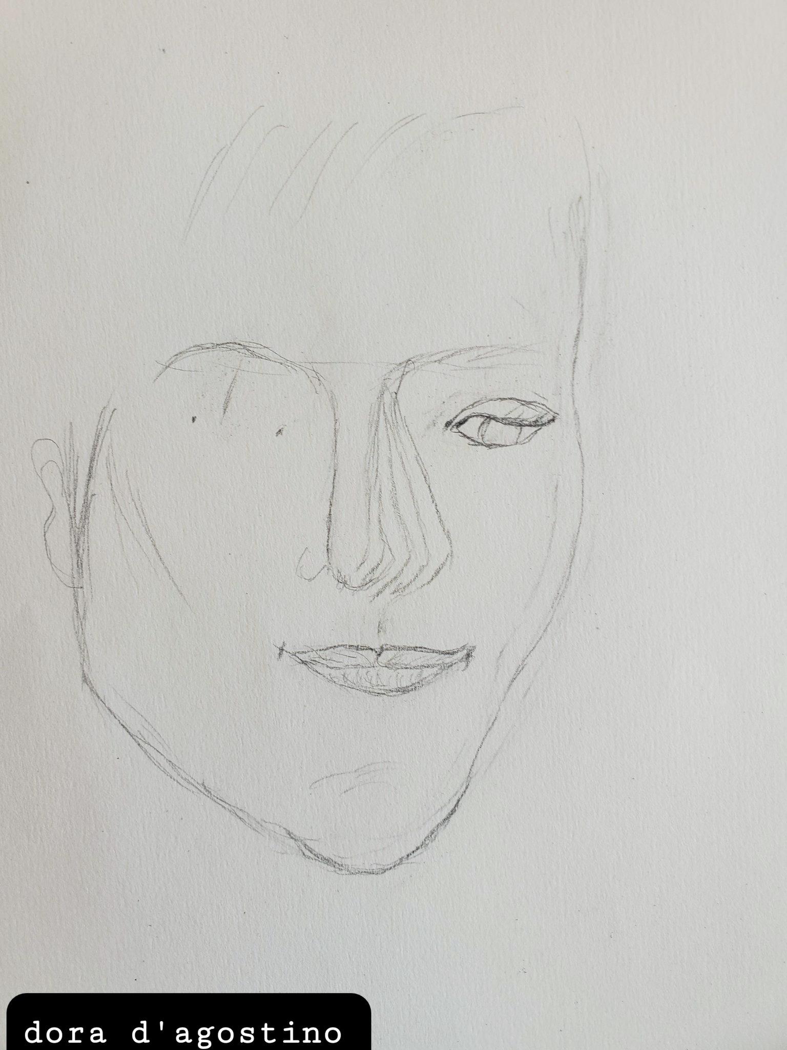 David Boles, as drawn by Dora D'Agostino on 01-27-21