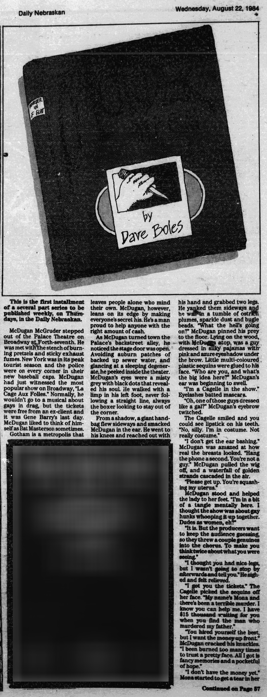Murder in F-flat; 8-22-1984