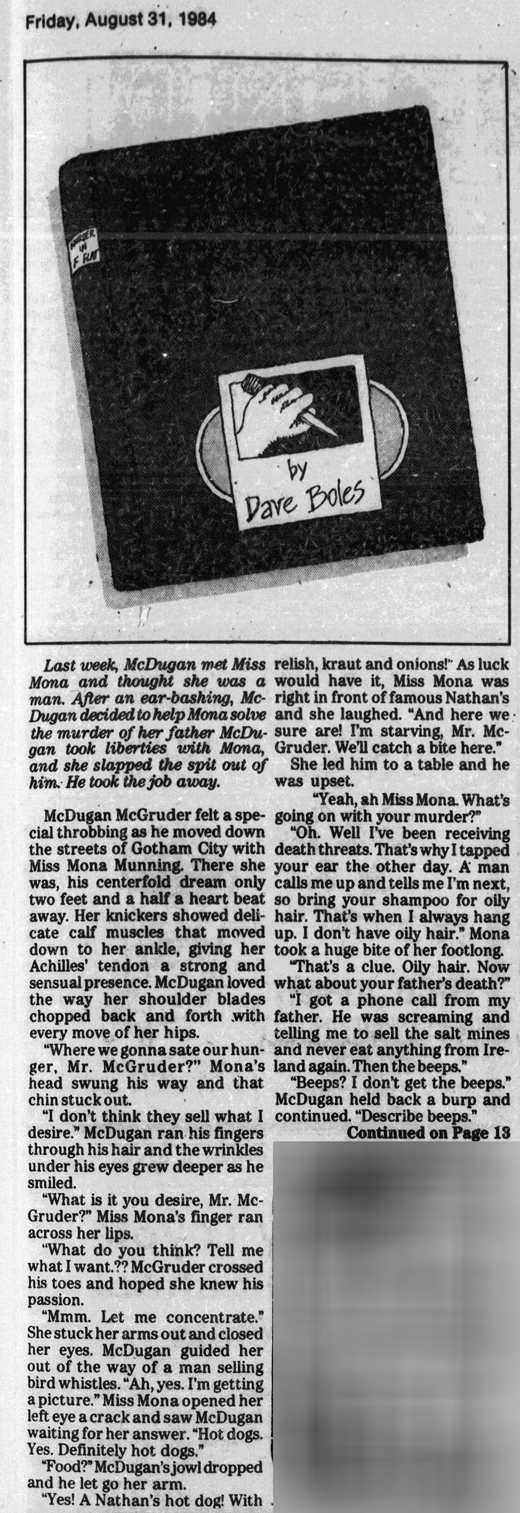 Murder in F-flat; 8-31-1984