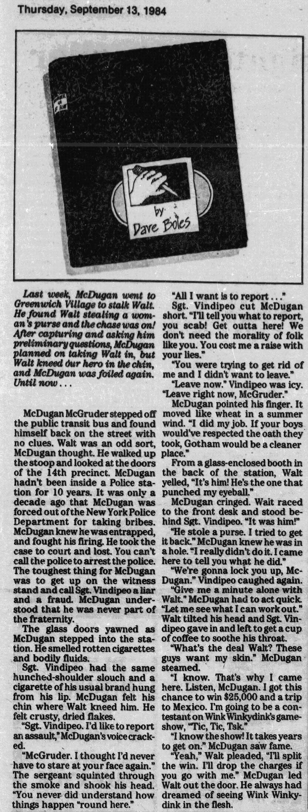 Murder in F-flat; 9-13-1984