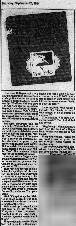 Murder in F-flat; 9-20-1984