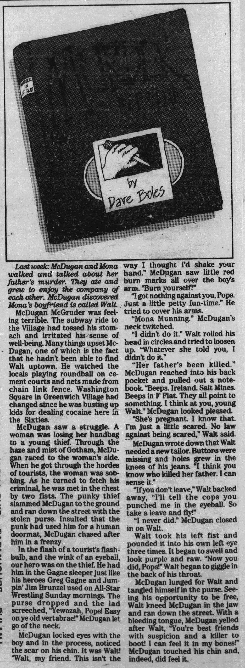 Murder in F-flat; 9-6-1984