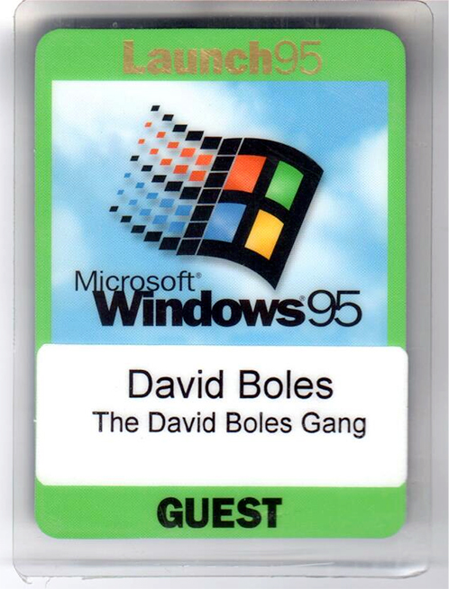 David Boles Gang Win 95 pass