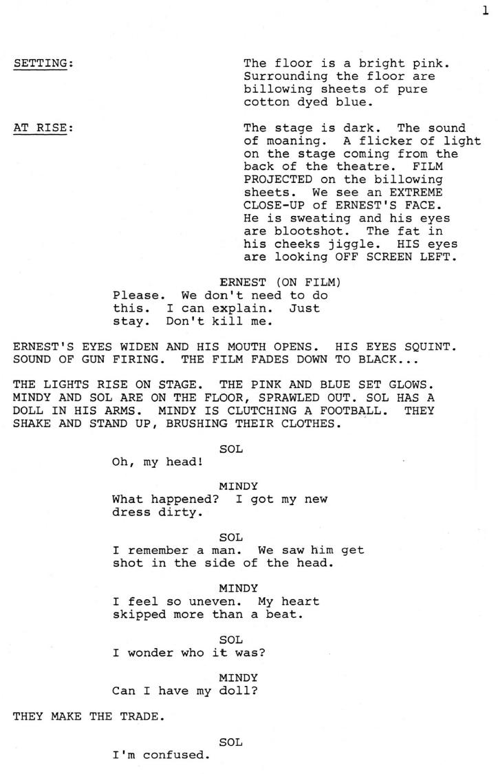 Murder in Ernest Script