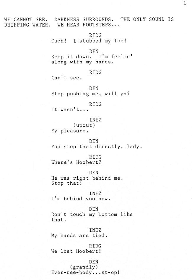 Holed Up Script