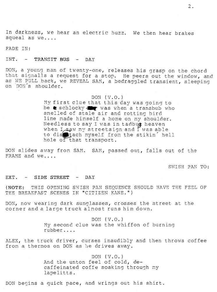 Watershed (First Draft) Script