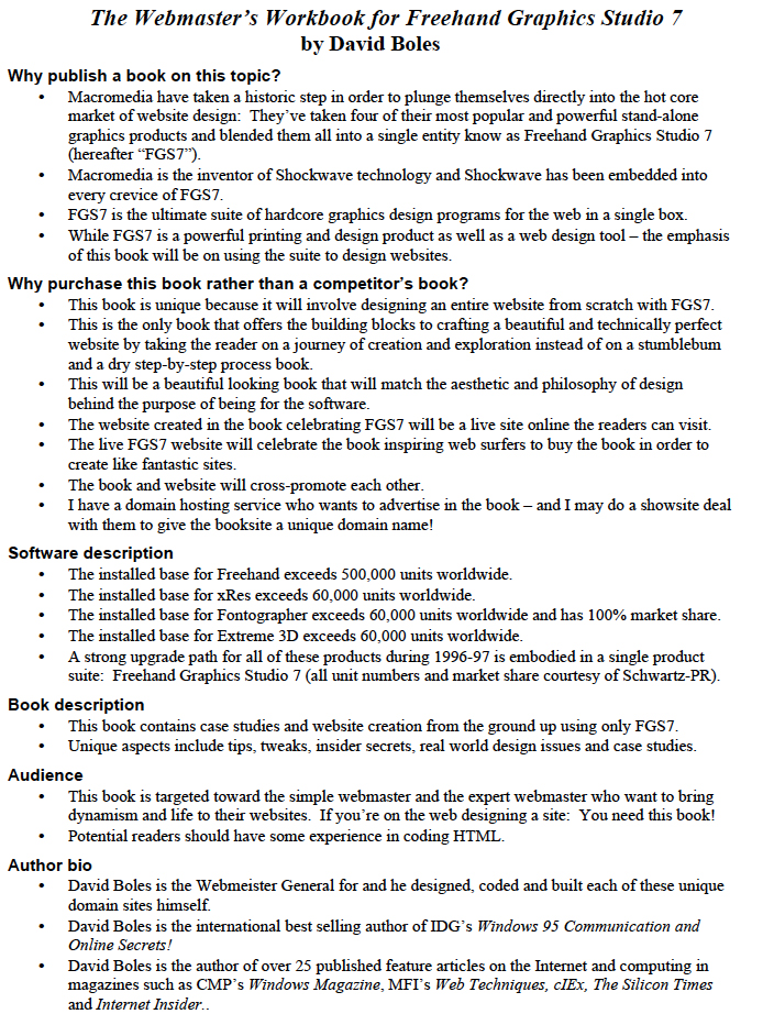The Webmaster's Workbook for Freehand Graphics Studio 7