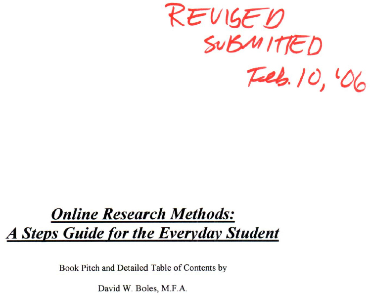 Online Research Methods: A Steps Guide for the Everyday Student