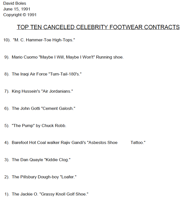 Top Ten Canceled Celebrity Footwear Contracts